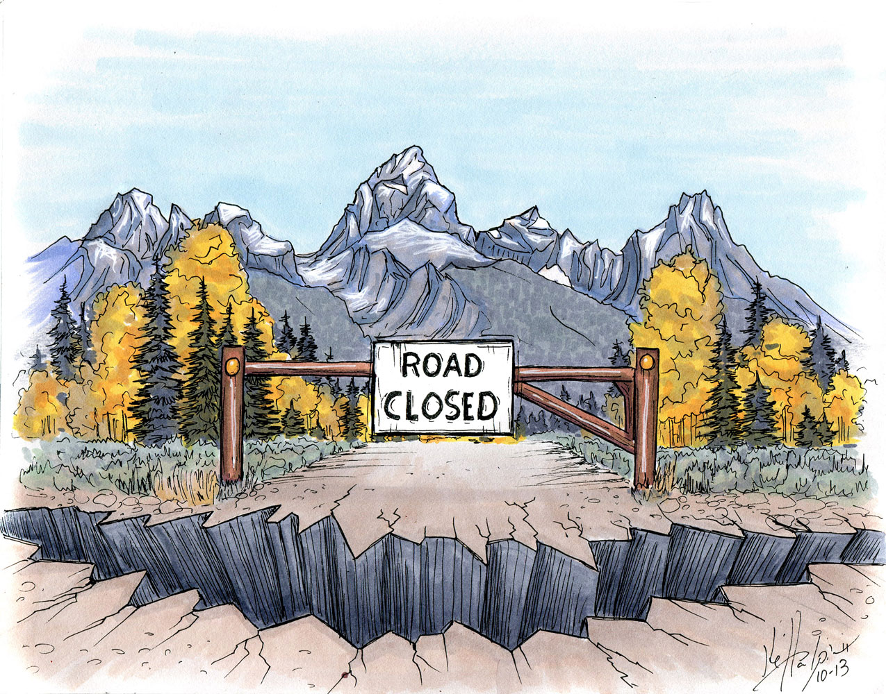 Kelly Halpin - Road Closed Tetons