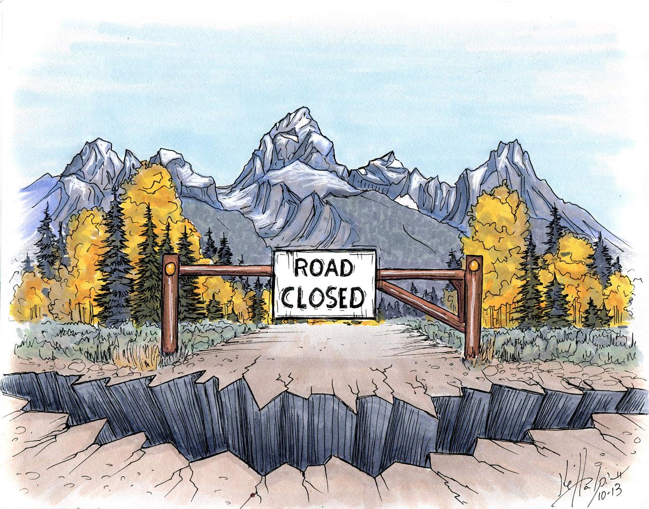 Kelly Halpin - Road Closed Tetons